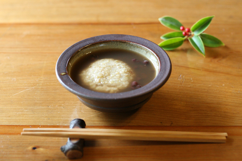 冨田自然栽培緑玄米もちおしるこ