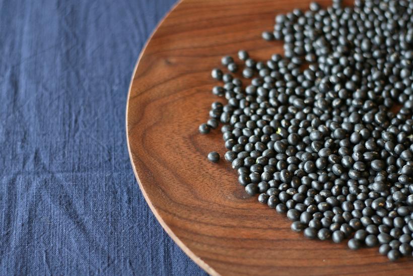 自然栽培黒大豆