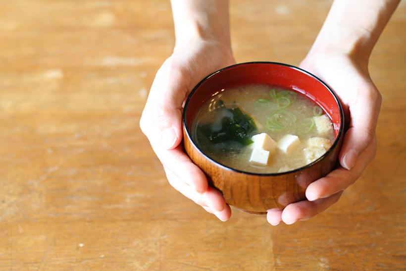 冨田自然栽培味噌使用の味噌汁