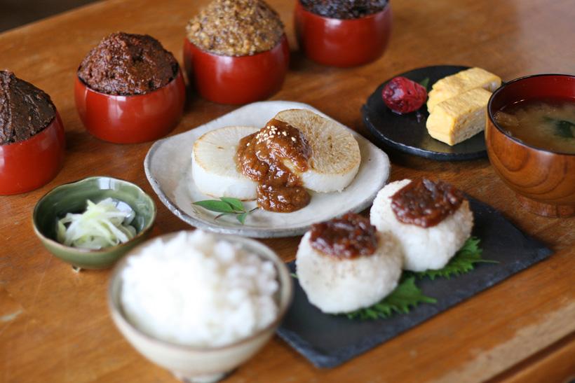冨田自然栽培味噌使用の食卓