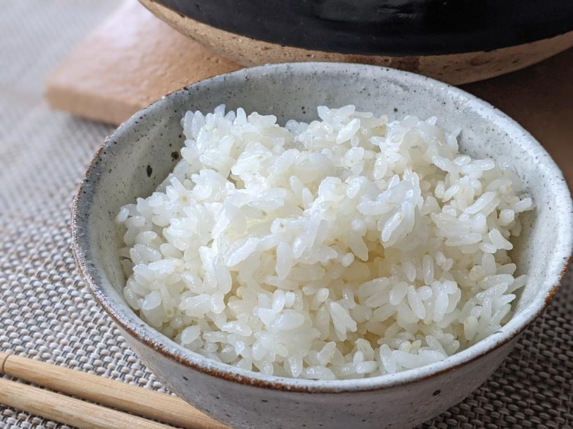 無農薬米のご飯