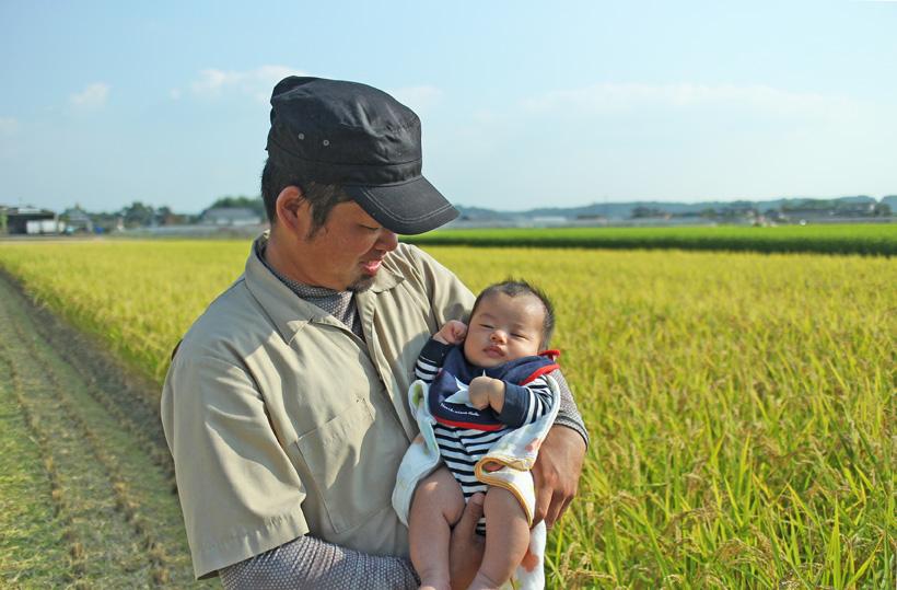 平田真佐光と赤ちゃん