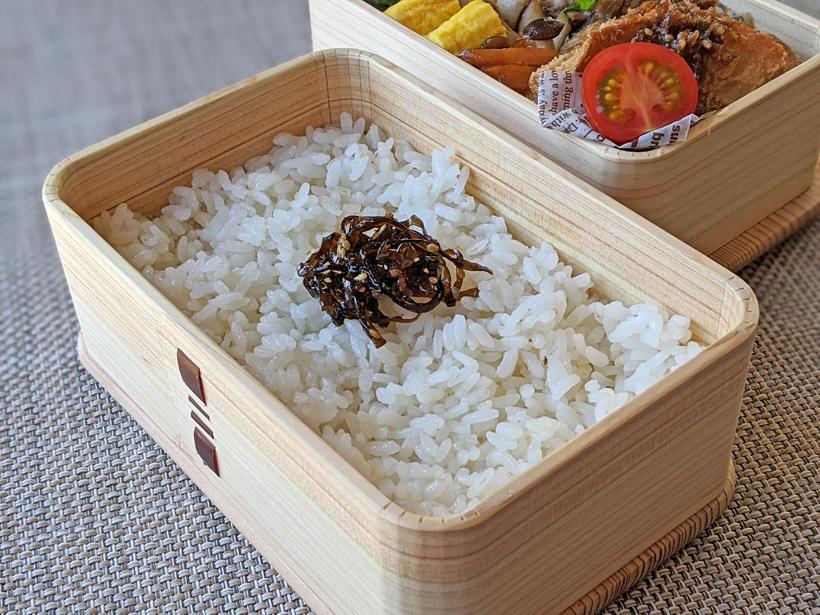自然栽培米の弁当
