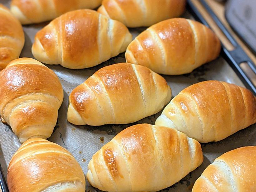 自然栽培小麦粉のロールパン