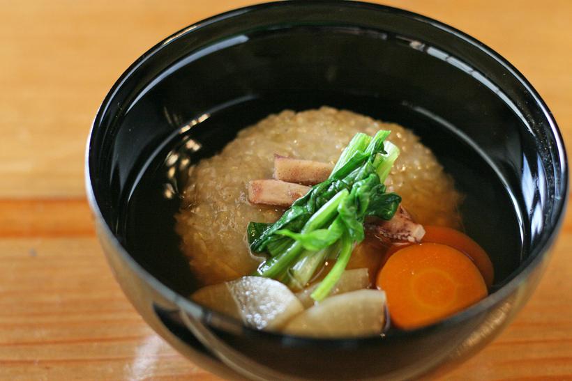 冨田自然栽培緑玄米もちの雑煮