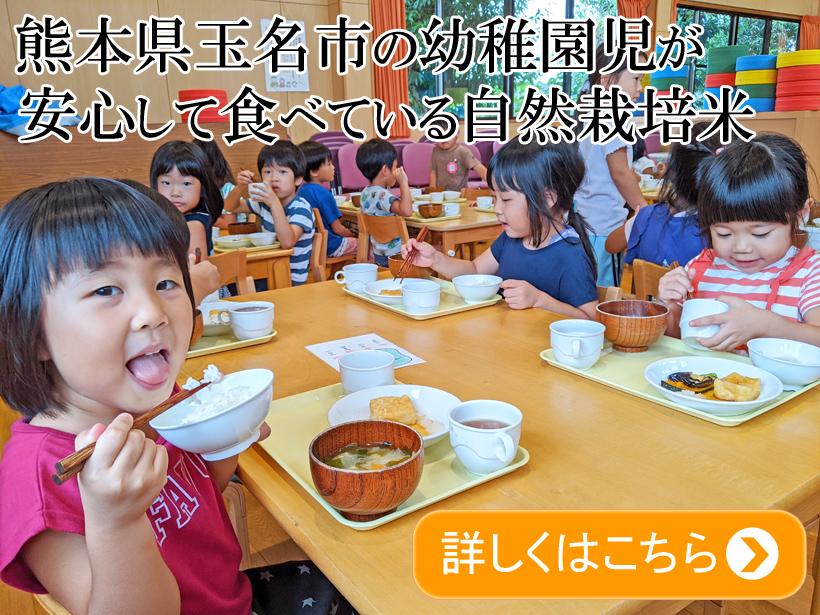 幼稚園児が食べている自然栽培米