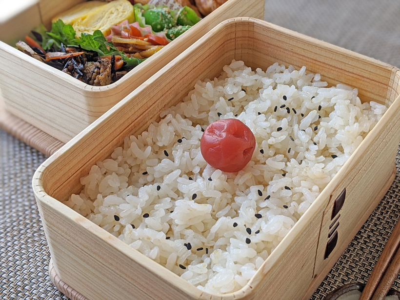 自然栽培米弁当
