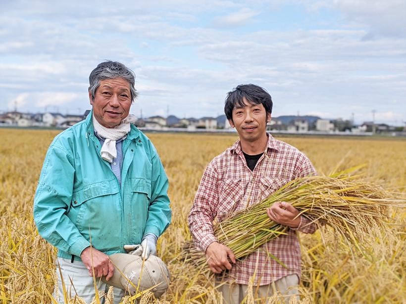 自然栽培米農家筋田親子