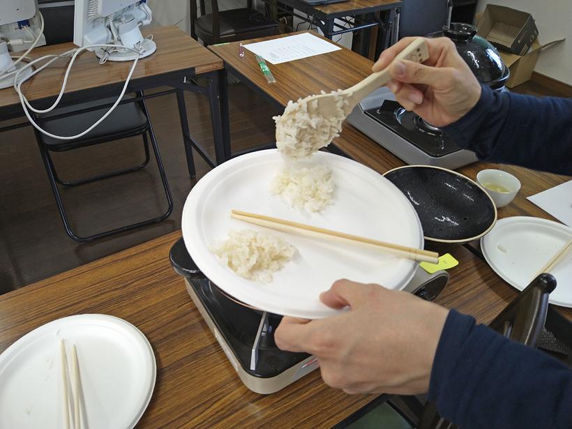食味比較実験菊池の輝きとヒノヒカリ