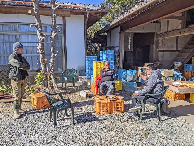 自然栽培米農家冨田親子