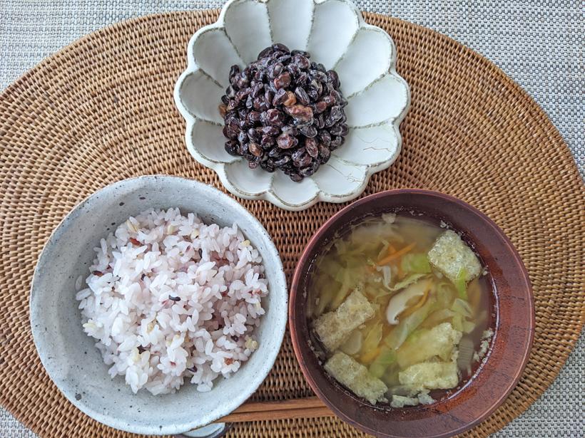 冨田自然栽培納豆と雑穀ご飯